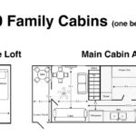 H20 Family Cabins one bedroom floor plan