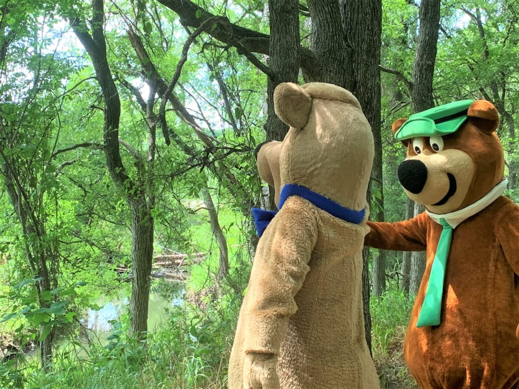 Yogi Bear and Boo Boo finding Miller Creek on the Nature Trail